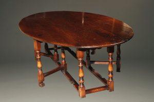 18th century styled English Gateleg drop leaf table custom made in cherry.